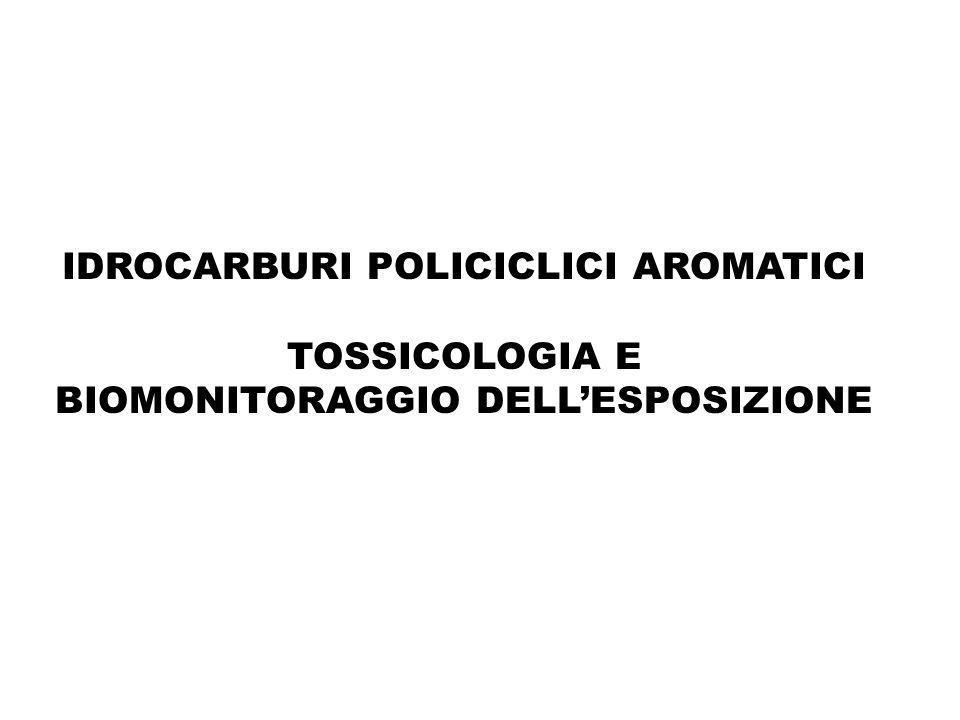 Addotti aromatici-DNA indicatore di rischio di cancro al polmone in studi prospettici predittivi dello sviluppo di tumore al polmone tra i fumatori (Tang et al., 2001;Perera et al., 2002) tra i non fumatori esposti ambientali (Peluso et al., 2005)