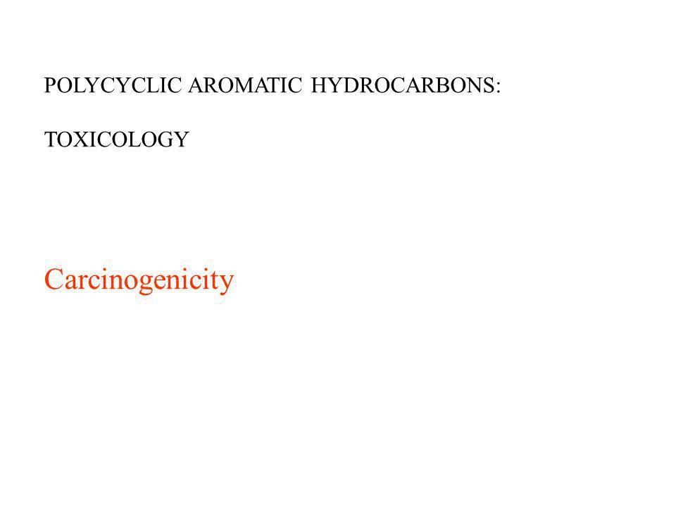 POLYCYCLIC AROMATIC HYDROCARBONS: TOXICOLOGY Carcinogenicity