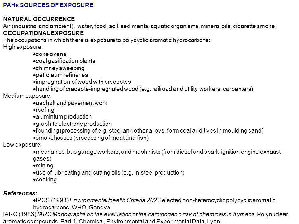Esposizione ambientale FUMO DI TABACCO45 OUTDOOR(inquinanti del traffico)4 DIETA (carne cotta alla griglia, pizza)2 INDOOR1 1980-2006 MEDLINE database (National Center for Biotechnology Information.