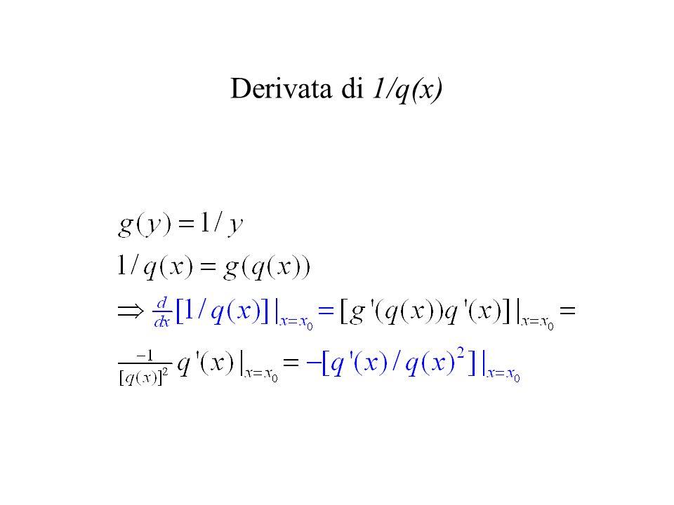 Derivata di 1/q(x)