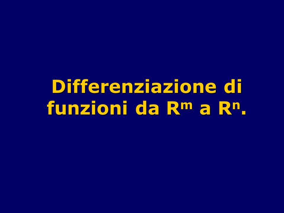 Differenziazione di funzioni da R m a R n.