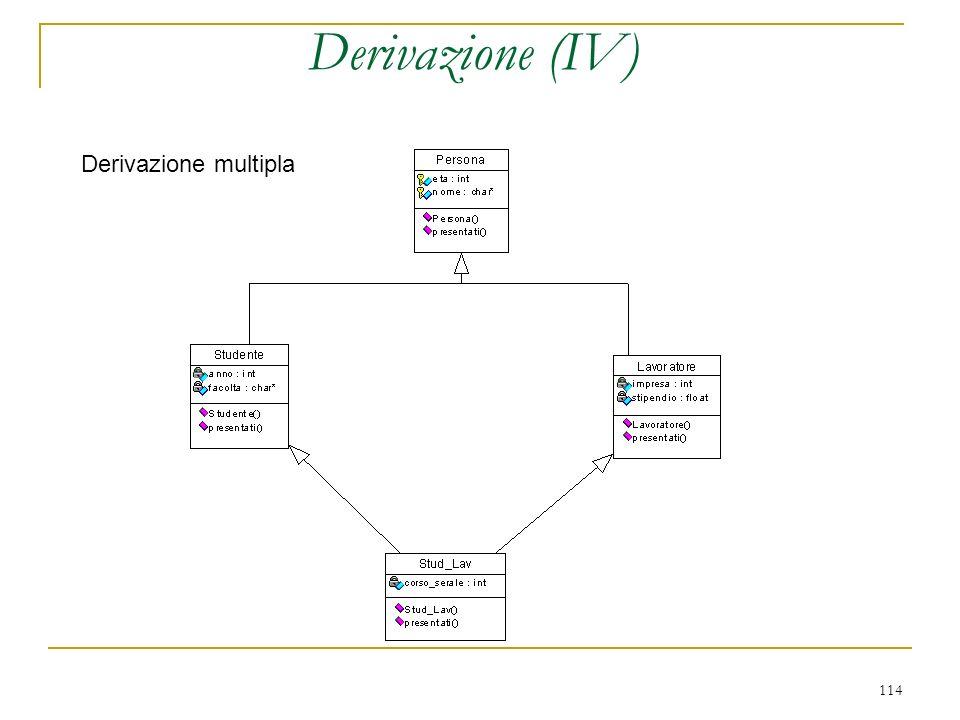 114 Derivazione (IV) Derivazione multipla