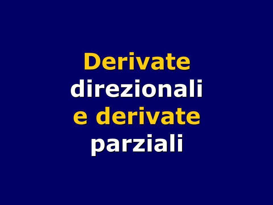 Derivate direzionali e derivate parziali