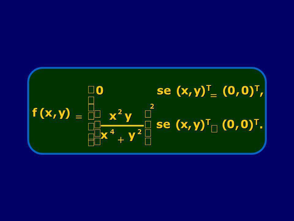 f(x,y) 0se(x,y )T)T)T)T (0,0 )T,)T,)T,)T, x 2 y x4 y2 2 se(x,y )T)T)T)T (0,0 )T.)T.)T.)T.