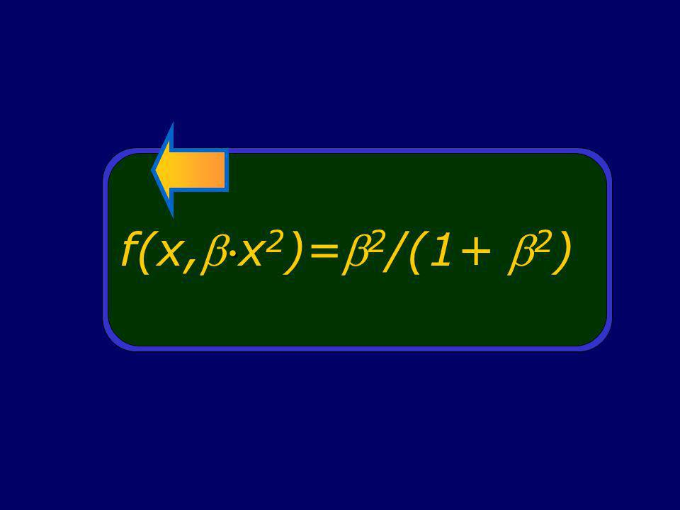 f(x, x 2 )= 2 /(1+ 2 )