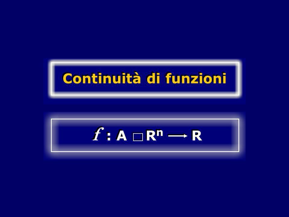 Continuità di funzioni f : A R n R