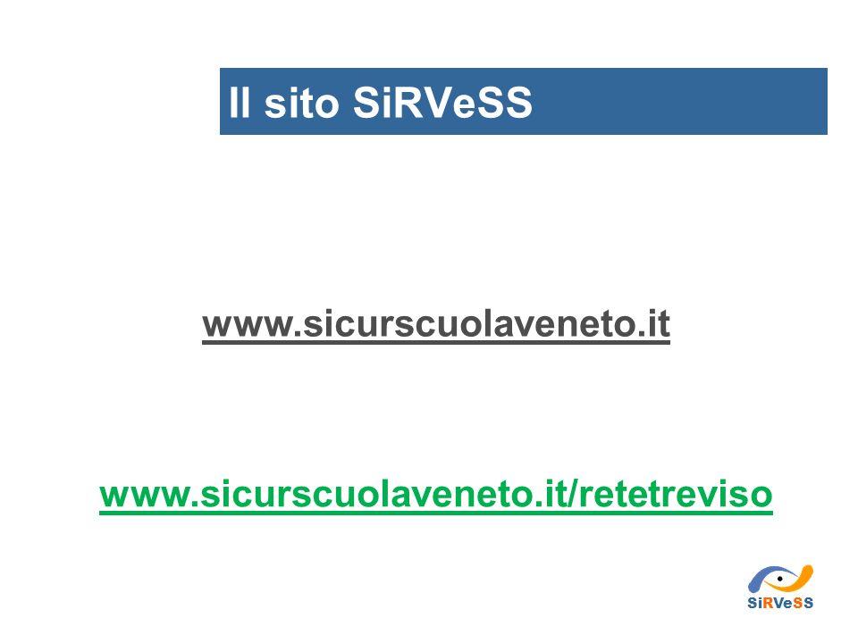 www.sicurscuolaveneto.it Il sito SiRVeSS www.sicurscuolaveneto.it/retetreviso SiRVeSS