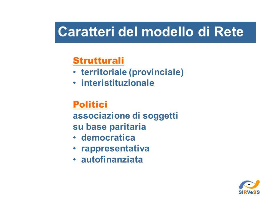 Strutturali territoriale (provinciale) interistituzionale Politici associazione di soggetti su base paritaria democratica rappresentativa autofinanzia