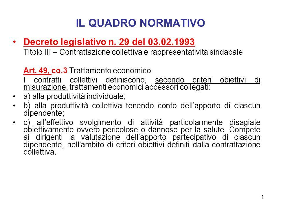 1 IL QUADRO NORMATIVO Decreto legislativo n.