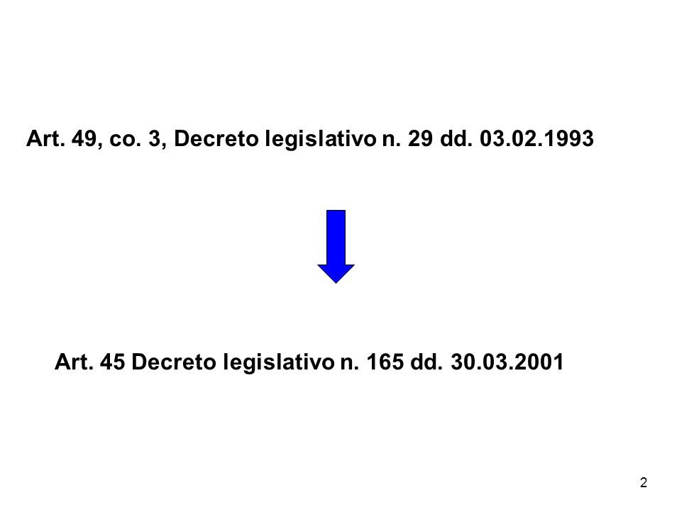 2 Art. 49, co. 3, Decreto legislativo n. 29 dd.