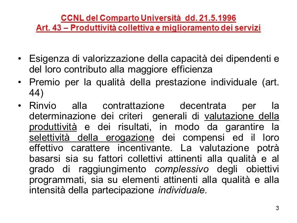 4 CCNL del Comparto Università dd.9.8.2000 Art.