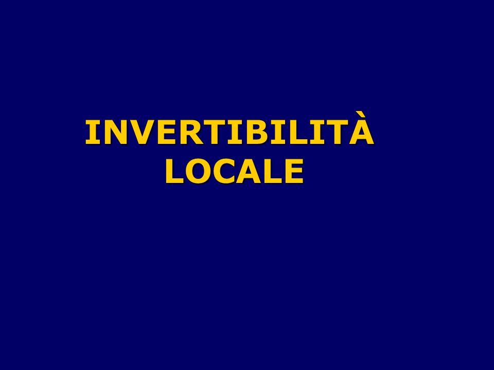 INVERTIBILITÀLOCALE