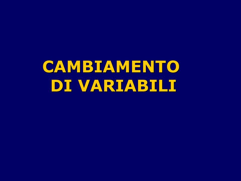 CAMBIAMENTO DI VARIABILI