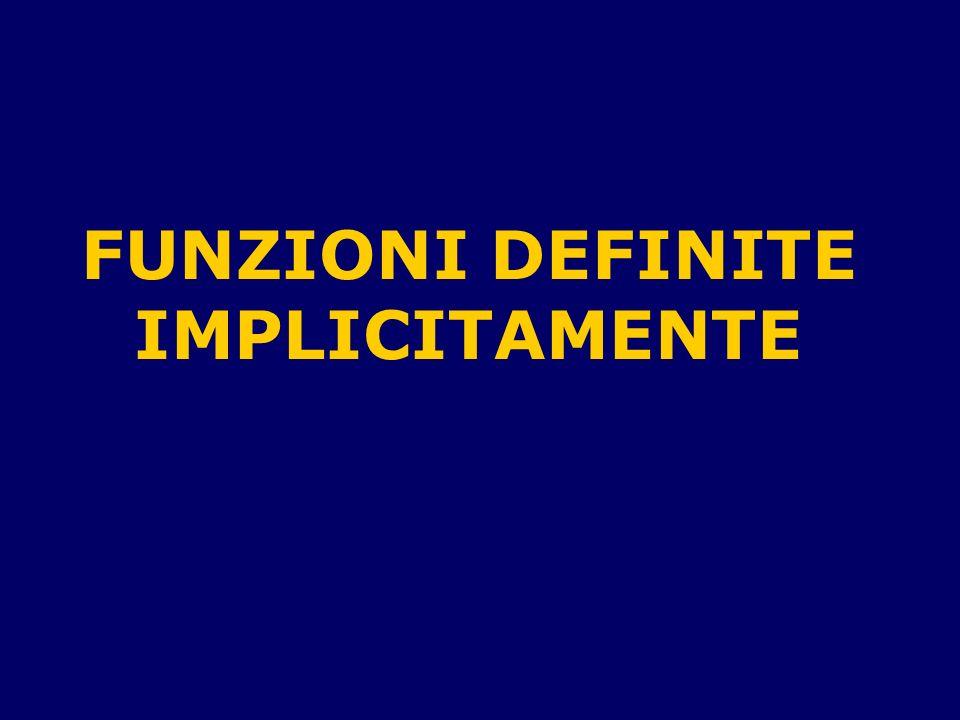 FUNZIONI DEFINITE IMPLICITAMENTE