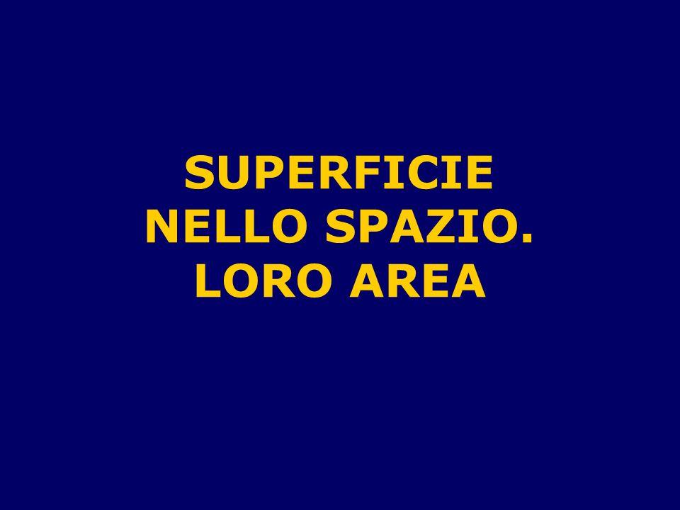 SUPERFICIE NELLO SPAZIO. LORO AREA