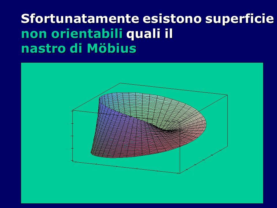 Sfortunatamente esistono superficie non orientabili quali il nastro di Möbius
