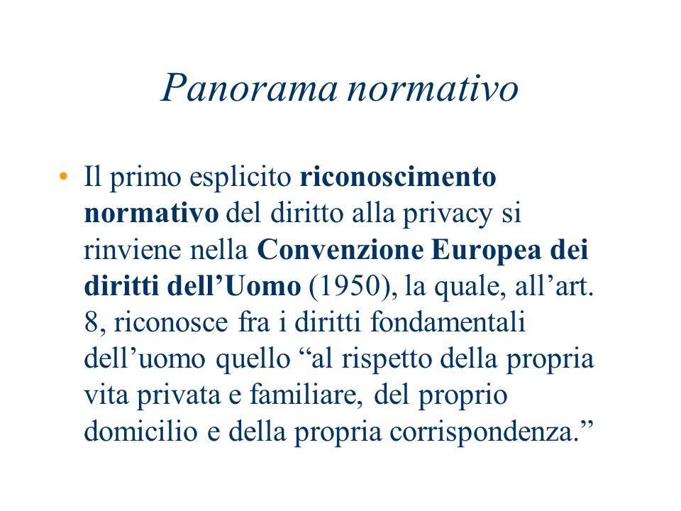 Successivamente alla l.675/96….. In Italia D.Lgs.