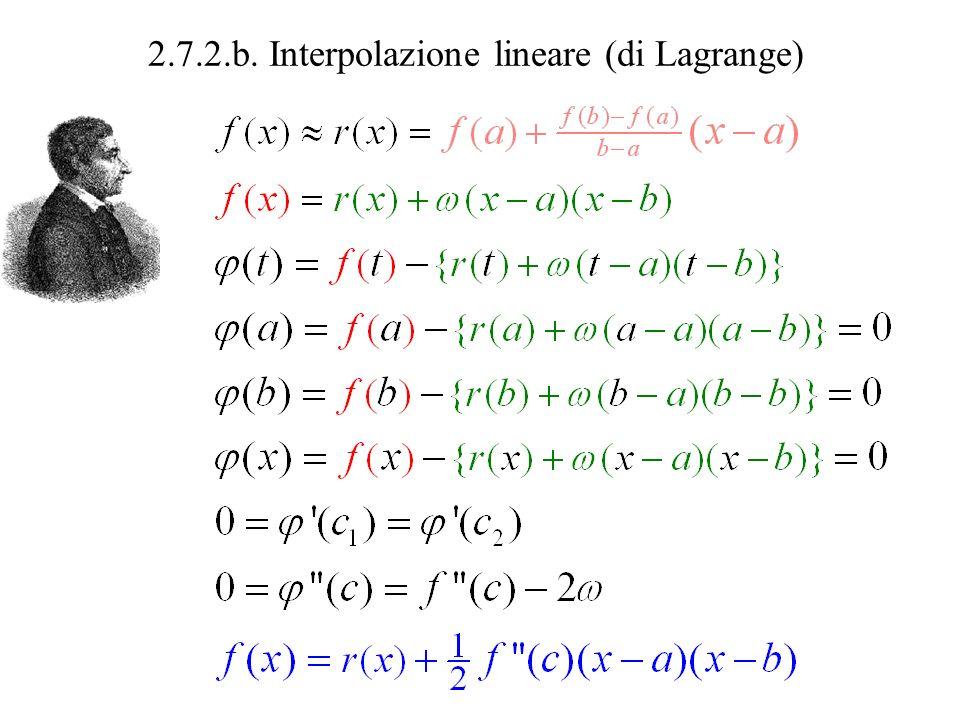 2.7.2.b. Interpolazione lineare (di Lagrange)