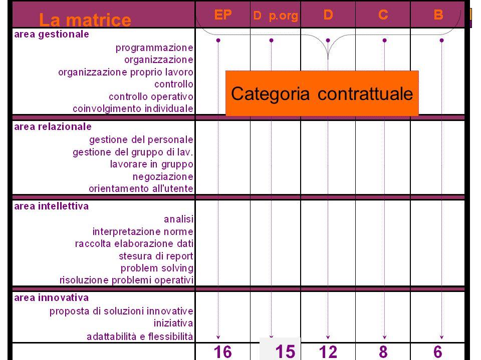 La matrice Categoria contrattuale 15