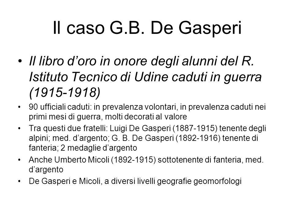 Il caso G.B. De Gasperi Il libro doro in onore degli alunni del R.