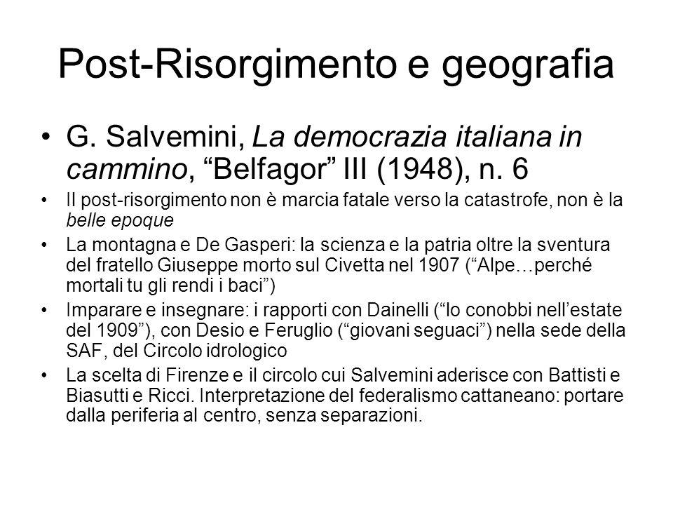 Post-Risorgimento e geografia G.