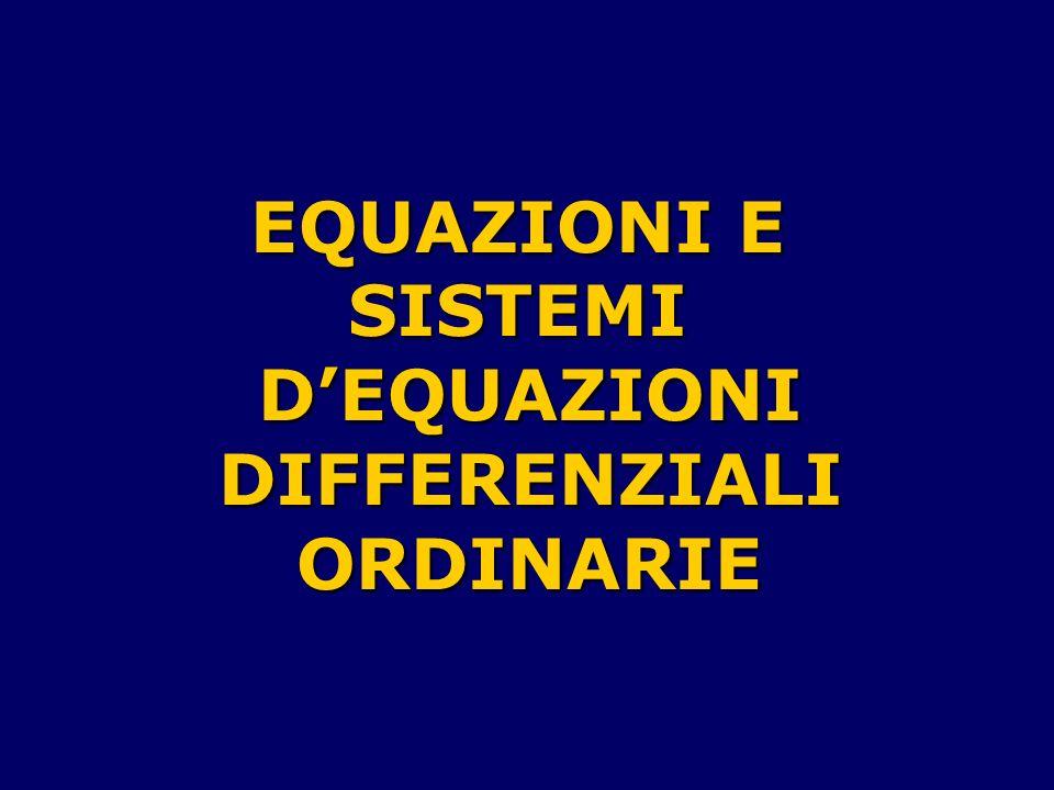 Mostreremo, per iniziare, che unequazione differenziale dordine n è equivalente a un sistema dequazioni differenziali del primordine di n equazioni in n funzioni incognite.