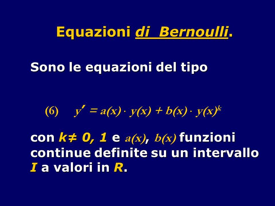 Equazioni di Bernoulli.