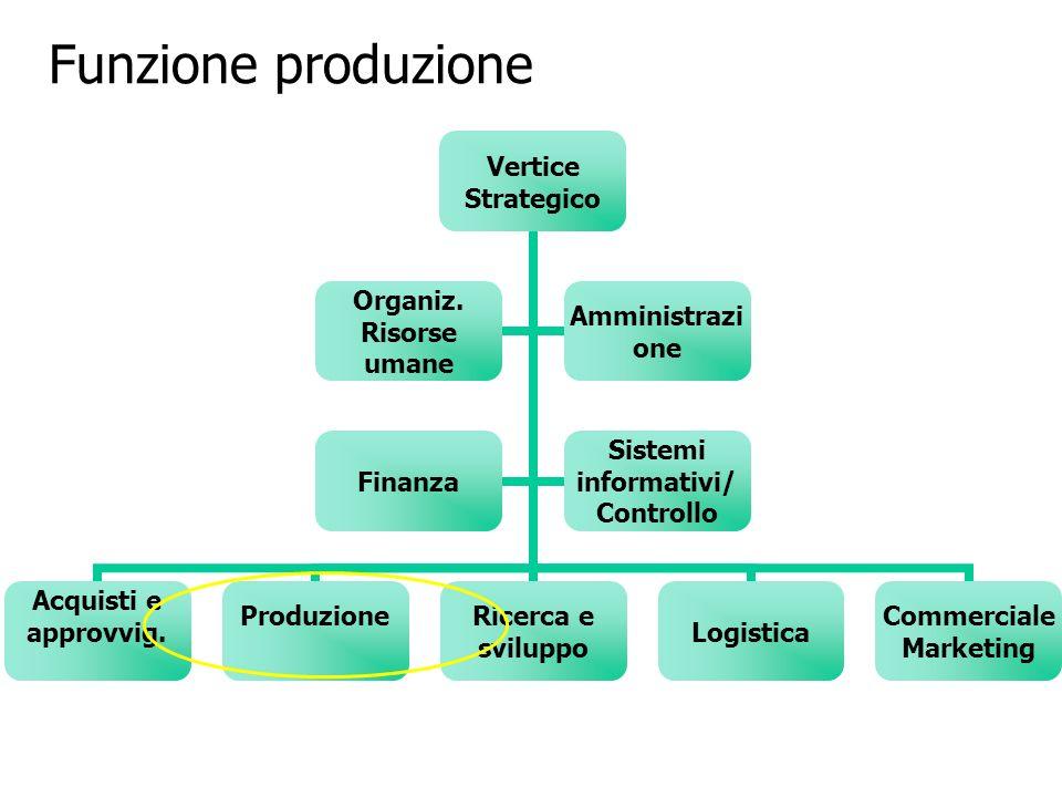 Funzione produzione