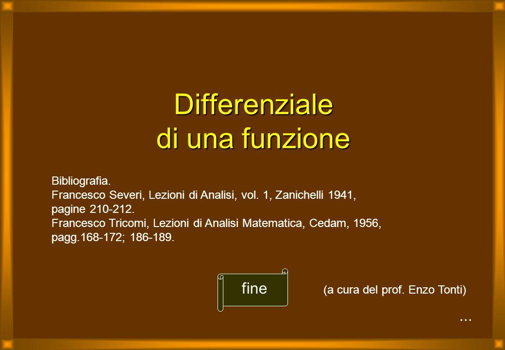 ...Differenziale di una funzione fine Bibliografia.