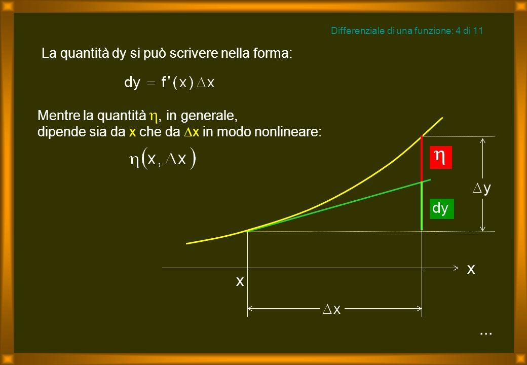 Mentre la quantità, in generale, dipende sia da x che da x in modo nonlineare:...