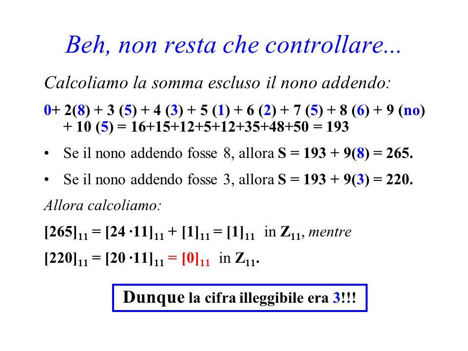 E ora un facile esercizio. Un nostro amico ci chiede di ordinare via Internet il libro Applied abstract Algebra di K.H. Kim - F.W. Roush. In tutta fre