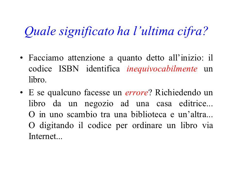 Ad esempio: sul frontespizio di un mio libro leggo ISBN 88 - 17 - 11582 - 7 che significa: ItaliaEditore Rizzoli Inglesi di Beppe Severgnini ???
