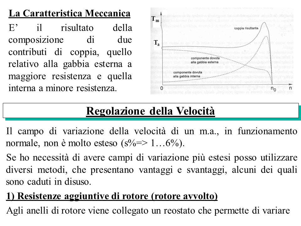 La Caratteristica Meccanica E il risultato della composizione di due contributi di coppia, quello relativo alla gabbia esterna a maggiore resistenza e
