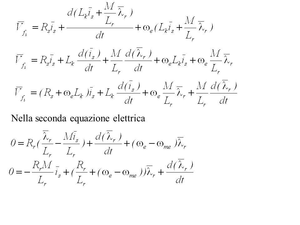Nella seconda equazione elettrica