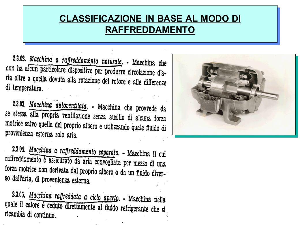28 CLASSIFICAZIONE IN BASE AL MODO DI RAFFREDDAMENTO
