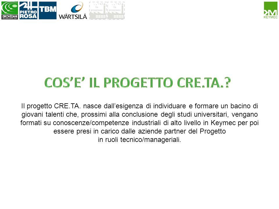 Il progetto CRE.TA. nasce dallesigenza di individuare e formare un bacino di giovani talenti che, prossimi alla conclusione degli studi universitari,