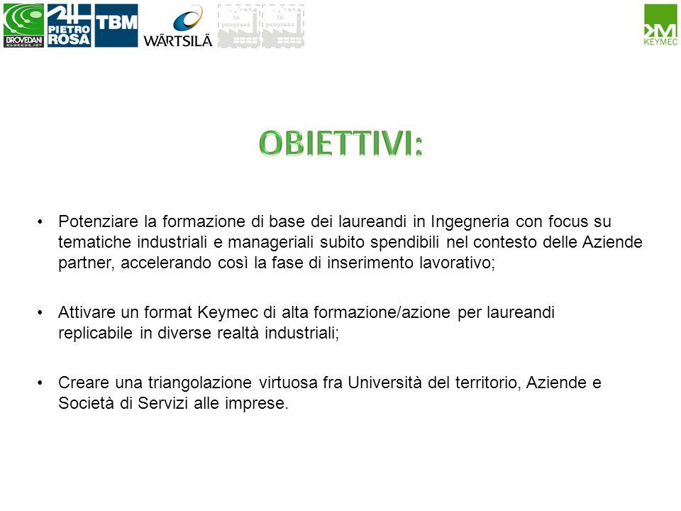 In progress Keymec, scuola di alta formazione in cui preparare i giovani talenti in sinergia con lAzienda.