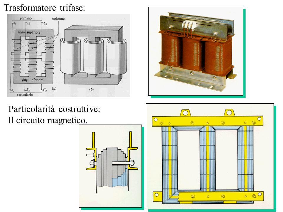 Trasformatore trifase: Particolarità costruttive: Il circuito magnetico.