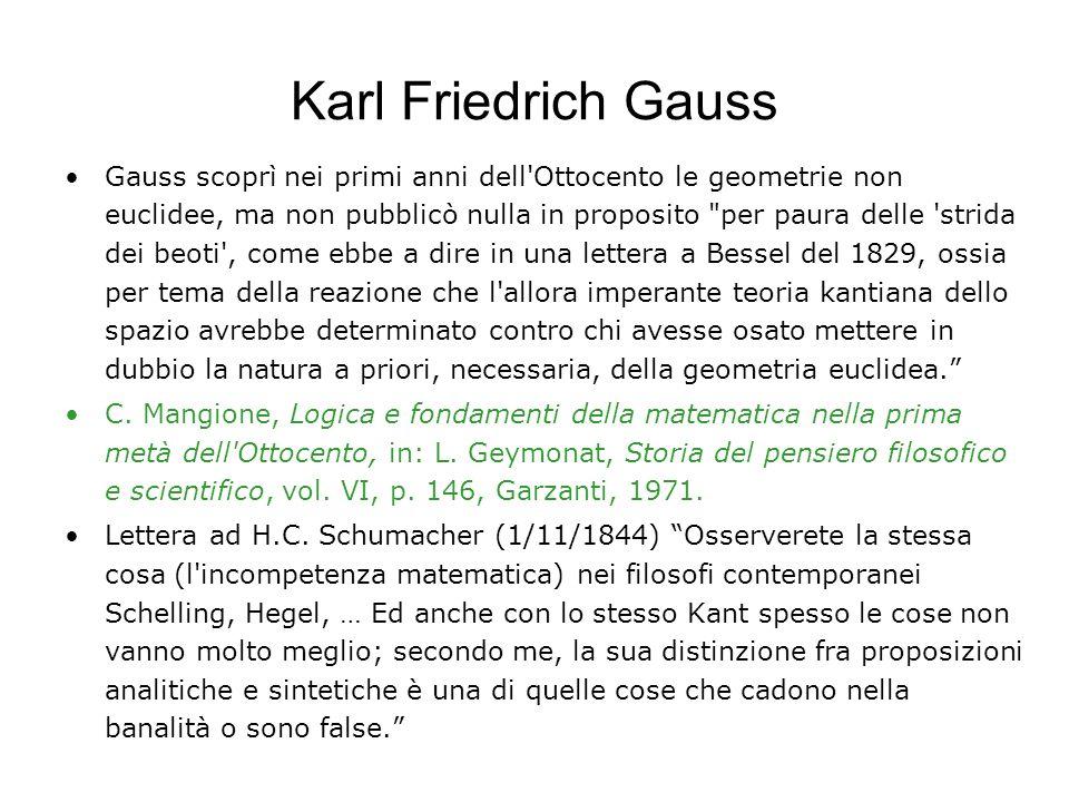 Evandro Agazzi, Dario Palladino, Le geometrie non euclidee e i fondamenti della geometria, La Scuola, 1998 (in particolare le Considerazioni conclusiv
