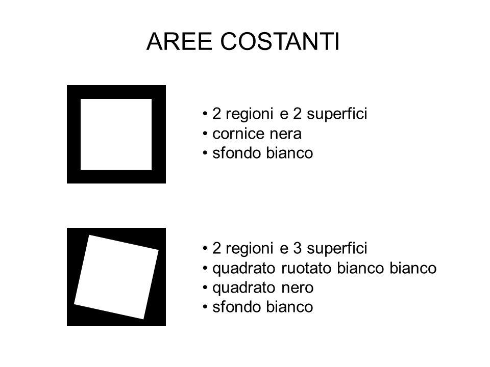 2 regioni e 2 superfici cornice nera sfondo bianco 2 regioni e 3 superfici quadrato ruotato bianco bianco quadrato nero sfondo bianco AREE COSTANTI