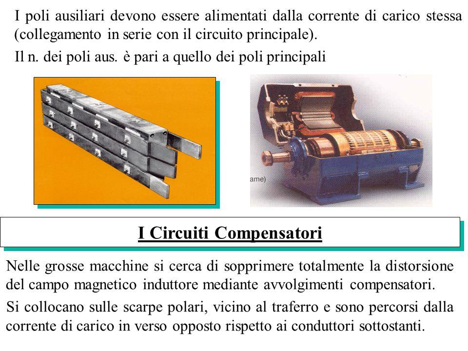 Nelle grosse macchine si cerca di sopprimere totalmente la distorsione del campo magnetico induttore mediante avvolgimenti compensatori. Si collocano