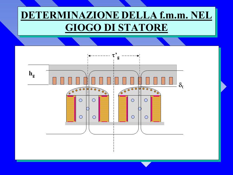 DETERMINAZIONE DELLA f.m.m. NEL GIOGO DI STATORE 0 hghg g