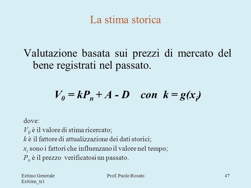Estimo Generale EstGen_ts1 Prof.