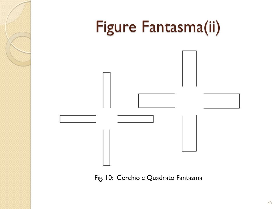 Figure Fantasma(ii) Fig. 10: Cerchio e Quadrato Fantasma 35