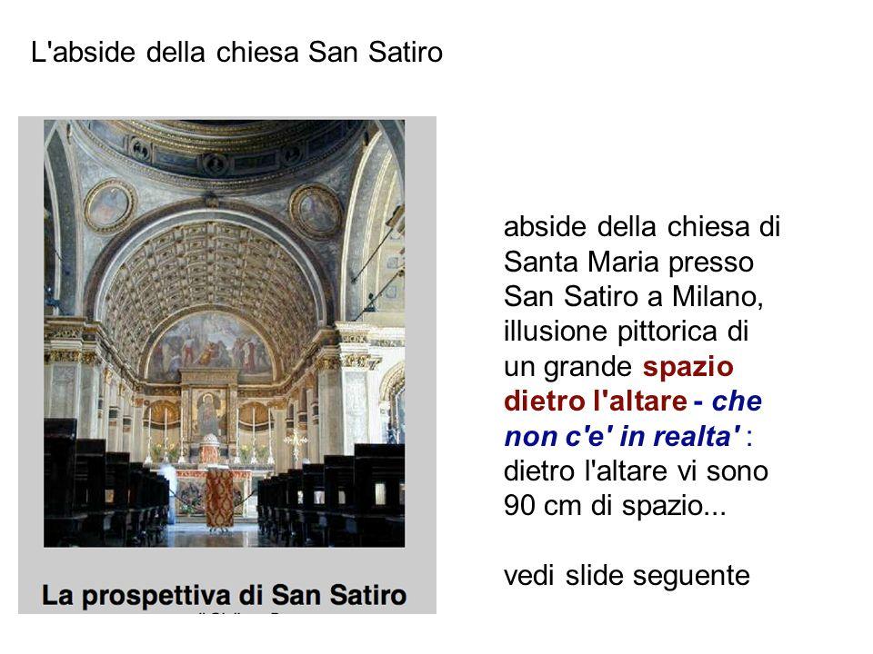 abside della chiesa di Santa Maria presso San Satiro a Milano, illusione pittorica di un grande spazio dietro l'altare - che non c'e' in realta' : die