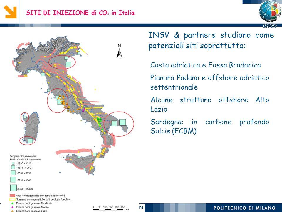 Ennio Macchi 38 SITI DI INIEZIONE di CO 2 in Italia Costa adriatica e Fossa Bradanica Pianura Padana e offshore adriatico settentrionale Alcune strutt