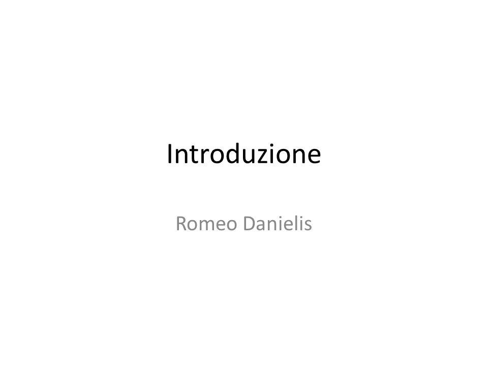 Introduzione Romeo Danielis