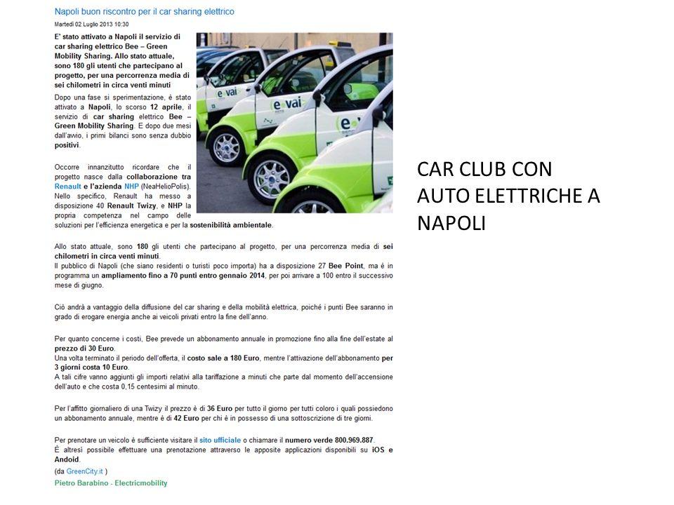 CAR CLUB CON AUTO ELETTRICHE A NAPOLI