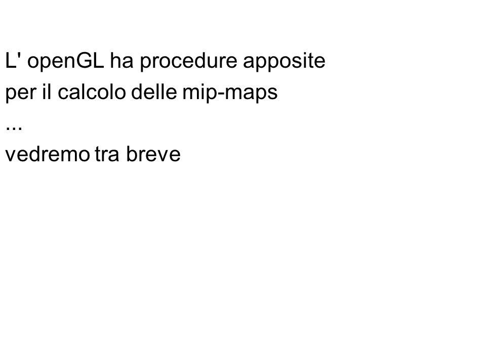 L' openGL ha procedure apposite per il calcolo delle mip-maps... vedremo tra breve
