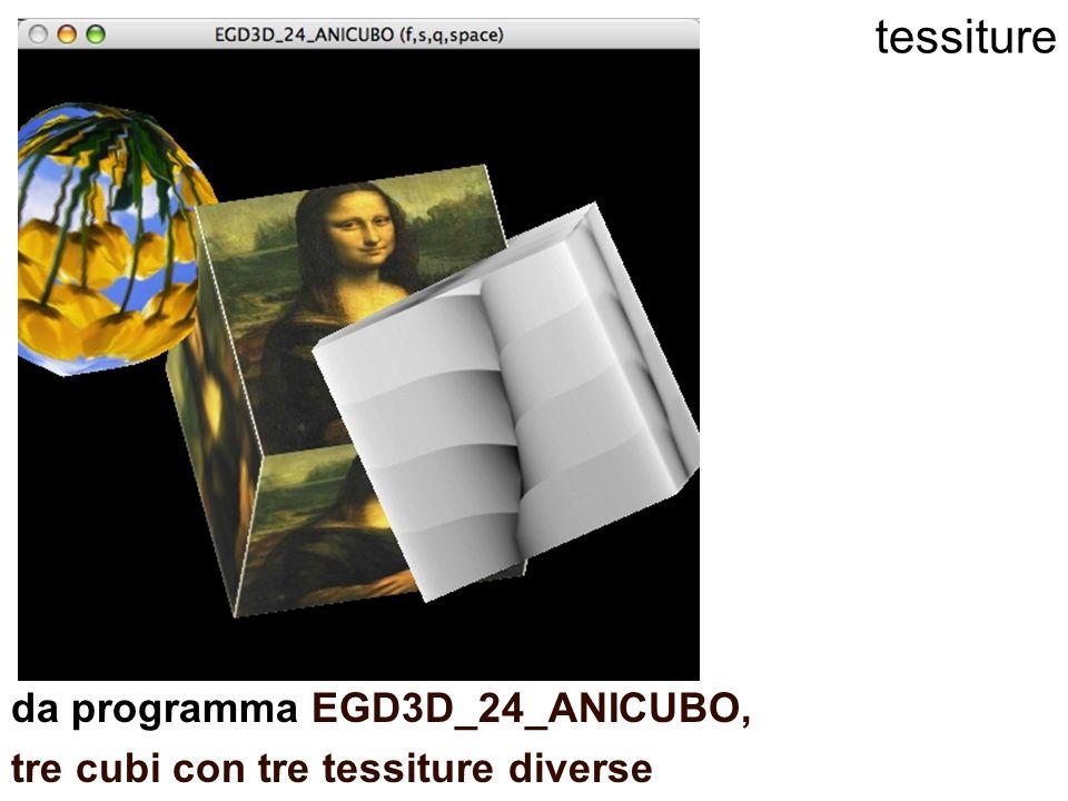tessiture da programma EGD3D_24_ANICUBO, tre cubi con tre tessiture diverse